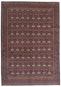 Moud Tapis 262X375 D'orient Fait Main Marron Foncé/Rouge Foncé Grand (Laine/Soie, Perse/Iran)