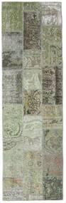 Patchwork - Persien/Iran Tapis 76X253 Moderne Fait Main Tapis Couloir Gris Foncé/Gris Clair (Laine, Perse/Iran)