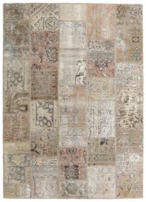 Patchwork - Persien/Iran Tapis 141X199 Moderne Fait Main Gris Clair/Marron Clair (Laine, Perse/Iran)