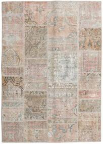 Patchwork - Persien/Iran Tapis 141X200 Moderne Fait Main Gris Clair/Marron Clair (Laine, Perse/Iran)