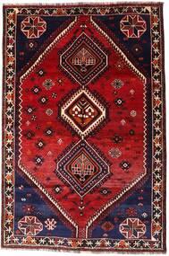 Shiraz Tapis 160X242 D'orient Fait Main Rouge Foncé (Laine, Perse/Iran)