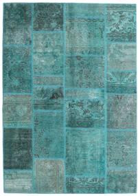 Patchwork - Persien/Iran Tapis 140X200 Moderne Fait Main Bleu Turquoise/Bleu Turquoise (Laine, Perse/Iran)
