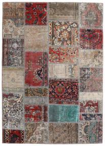 Patchwork - Persien/Iran Tapis 141X198 Moderne Fait Main Gris Clair/Rouge Foncé (Laine, Perse/Iran)