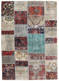 Patchwork - Persien/Iran Tapis 141X202 Moderne Fait Main Gris Clair/Gris Foncé (Laine, Perse/Iran)