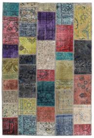 Patchwork - Persien/Iran Tapis 135X201 Moderne Fait Main Gris Foncé/Gris Clair (Laine, Perse/Iran)