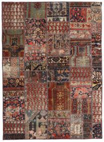 Patchwork - Persien/Iran Tapis 144X201 Moderne Fait Main Rouge Foncé/Marron Foncé/Marron Clair (Laine, Perse/Iran)