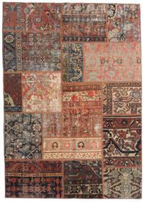 Patchwork - Persien/Iran Tapis 140X198 Moderne Fait Main Rouge Foncé/Marron Clair/Marron Foncé (Laine, Perse/Iran)