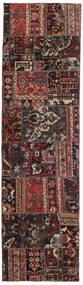 Patchwork - Persien/Iran Tapis 72X256 Moderne Fait Main Tapis Couloir Noir/Rouge Foncé (Laine, Perse/Iran)