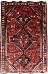 Shiraz Tapis 166X246 D'orient Fait Main Rouge Foncé/Rouille/Rouge (Laine, Perse/Iran)