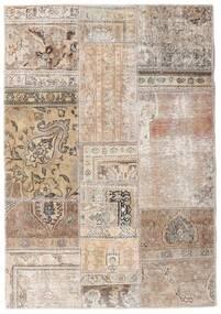 Patchwork - Persien/Iran Tapis 108X156 Moderne Fait Main Gris Clair/Blanc/Crème (Laine, Perse/Iran)