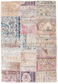 Patchwork - Persien/Iran Tapis 108X159 Moderne Fait Main Gris Clair/Rose Clair/Blanc/Crème (Laine, Perse/Iran)