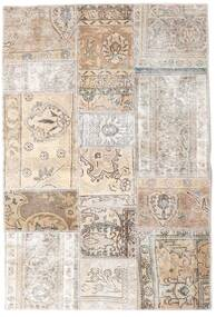 Patchwork - Persien/Iran Tapis 106X157 Moderne Fait Main Gris Clair/Beige (Laine, Perse/Iran)