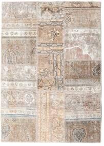 Patchwork - Persien/Iran Tapis 109X155 Moderne Fait Main Gris Clair/Blanc/Crème (Laine, Perse/Iran)