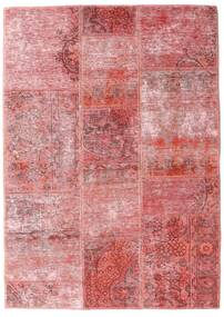 Patchwork - Persien/Iran Tapis 107X151 Moderne Fait Main Rose Clair/Rouge Foncé (Laine, Perse/Iran)