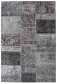 Patchwork - Persien/Iran Tapis 107X157 Moderne Fait Main Gris Clair/Gris Foncé (Laine, Perse/Iran)
