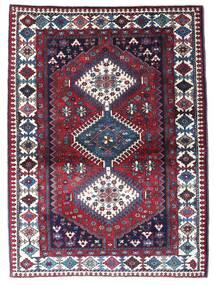 Yalameh Tapis 105X141 D'orient Fait Main Rouge Foncé/Violet Foncé (Laine, Perse/Iran)