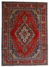 Tabriz Tapis 300X408 D'orient Fait Main Rouge Foncé/Gris Foncé Grand (Laine, Perse/Iran)
