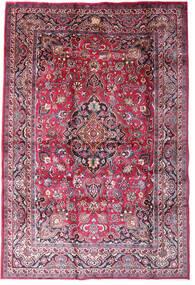 Mashad Tapis 198X290 D'orient Fait Main Violet Foncé/Rose Clair (Laine, Perse/Iran)