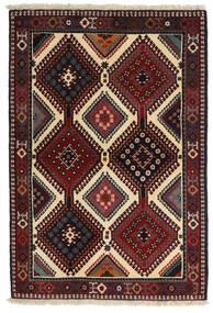 Yalameh Tapis 104X152 D'orient Fait Main Rouge Foncé/Gris Foncé (Laine, Perse/Iran)