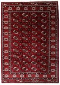 Turkaman Tapis 204X285 D'orient Fait Main Rouge Foncé/Marron Foncé (Laine, Perse/Iran)