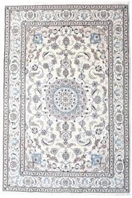 Naïn Tapis 200X295 D'orient Fait Main Blanc/Crème/Gris Clair/Beige (Laine, Perse/Iran)