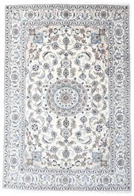 Naïn Tapis 196X287 D'orient Fait Main Blanc/Crème/Gris Clair (Laine, Perse/Iran)