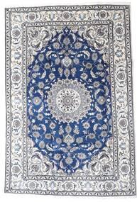 Naïn Tapis 195X290 D'orient Fait Main Gris Clair/Blanc/Crème (Laine, Perse/Iran)