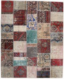 Patchwork - Persien/Iran Tapis 200X246 Moderne Fait Main Gris Clair/Rouge Foncé (Laine, Perse/Iran)