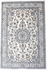 Naïn Tapis 200X298 D'orient Fait Main Gris Clair/Blanc/Crème (Laine, Perse/Iran)
