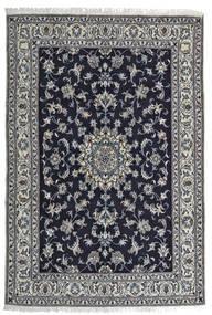 Naïn Tapis 164X242 D'orient Fait Main Noir/Gris Clair (Laine, Perse/Iran)