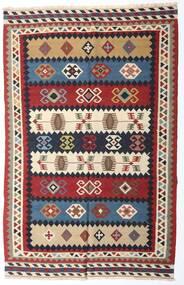 Kilim Vintage Tapis 153X235 D'orient Tissé À La Main Rouge Foncé/Violet Foncé (Laine, Perse/Iran)
