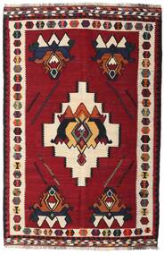 Kilim Vintage Tapis 153X232 D'orient Tissé À La Main Rouge Foncé/Marron Foncé (Laine, Perse/Iran)