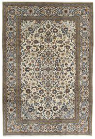 Kashan Tapis 195X288 D'orient Fait Main Gris Foncé/Gris Clair (Laine, Perse/Iran)