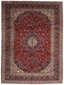 Kashan Tapis 294X400 D'orient Fait Main Rouge Foncé Grand (Laine, Perse/Iran)