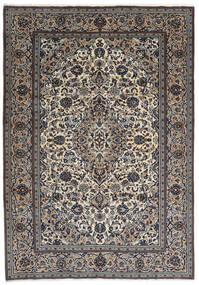 Kashan Tapis 237X343 D'orient Fait Main Gris Foncé/Gris Clair (Laine, Perse/Iran)
