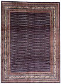 Sarough Mir Tapis 268X365 D'orient Fait Main Noir/Violet Foncé Grand (Laine, Perse/Iran)