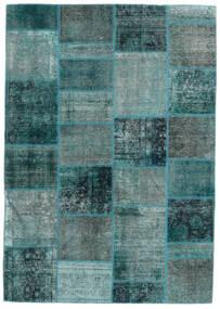 Patchwork - Persien/Iran Tapis 167X236 Moderne Fait Main Bleu Turquoise/Turquoise Foncé (Laine, Perse/Iran)