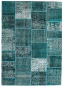 Patchwork - Persien/Iran Tapis 165X233 Moderne Fait Main Turquoise Foncé/Bleu Turquoise (Laine, Perse/Iran)