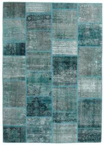 Patchwork - Persien/Iran Tapis 168X234 Moderne Fait Main Turquoise Foncé/Bleu Turquoise (Laine, Perse/Iran)