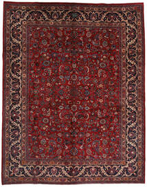 Mashad Tapis 292X373 D'orient Fait Main Rouge Foncé/Noir Grand (Laine, Perse/Iran)