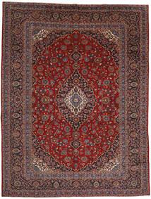 Kashan Tapis 292X384 D'orient Fait Main Rouge Foncé/Noir Grand (Laine, Perse/Iran)