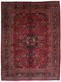 Mashad Tapis 306X408 D'orient Fait Main Rouge Foncé/Marron Foncé Grand (Laine, Perse/Iran)
