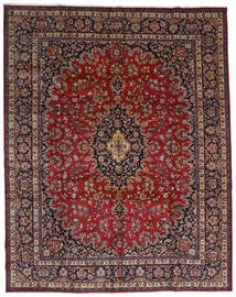Mashad Tapis 298X375 D'orient Fait Main Rouge Foncé/Marron Grand (Laine, Perse/Iran)