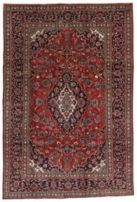 Mashad Tapis 196X290 D'orient Fait Main Rouge Foncé/Noir (Laine, Perse/Iran)
