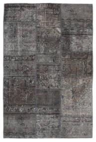 Patchwork - Persien/Iran Tapis 105X159 Moderne Fait Main Gris Foncé/Noir (Laine, Perse/Iran)