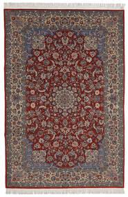 Ispahan Sherkat Farsh Tapis 200X300 D'orient Fait Main Rouge Foncé/Marron Foncé (Laine/Soie, Perse/Iran)