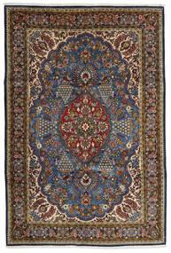 Ghom Kork/Soie Tapis 215X322 D'orient Fait Main Marron/Gris Foncé (Laine/Soie, Perse/Iran)
