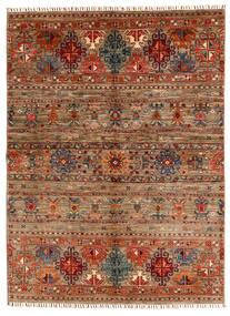 Shabargan Tapis 153X209 Moderne Fait Main Marron Foncé/Marron Clair (Laine, Afghanistan)