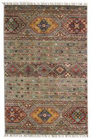 Shabargan Tapis 103X158 Moderne Fait Main Vert Olive/Gris Foncé (Laine, Afghanistan)