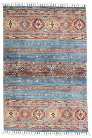 Shabargan Tapis 99X151 Moderne Fait Main Bleu Clair/Gris Clair (Laine, Afghanistan)